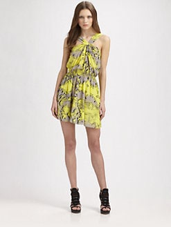 Jay Godfrey - Printed Silk Dress