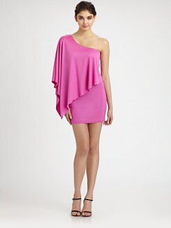 Jay Godfrey - One-Shoulder Satin Jersey Dress