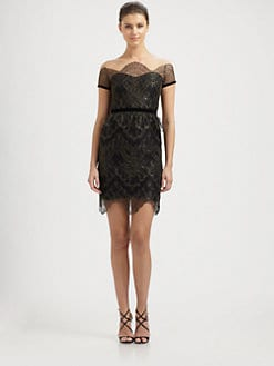 Notte by Marchesa - Scalloped Lace Dress