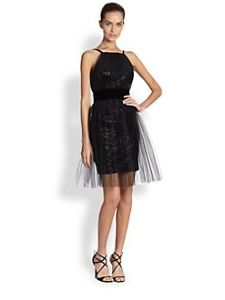 Notte by Marchesa - Tulle, Sequin & Velvet Dress