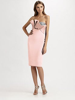 Notte by Marchesa - Strapless Silk Dress