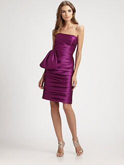 ML Monique Lhuillier - Strapless Taffeta Dress