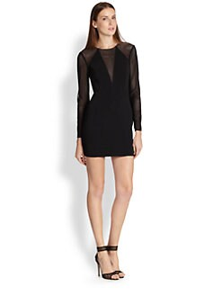 Jay Godfrey - Mesh Crepe Dress