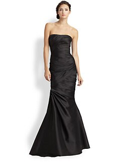 ML Monique Lhuillier - Faille Pick-Up Gown