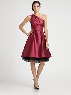 ML Monique Lhuillier - Faille Hi-Lo Dress
