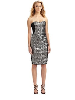 Notte by Marchesa - Strapless Sequined Dress