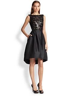 ML Monique Lhuillier - Sequin Faille Dress