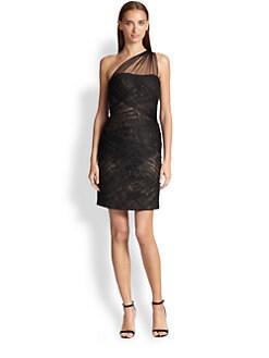 ML Monique Lhuillier - Tulle Asymmetrical Dress