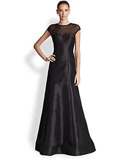 ML Monique Lhuillier - Beaded-Detail Gown