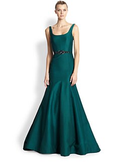 ML Monique Lhuillier - Faille Mermaid Gown