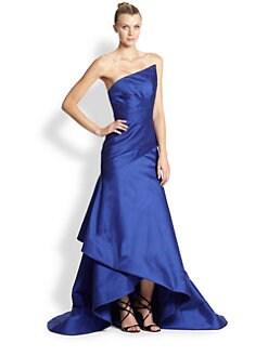 ML Monique Lhuillier - Satin Strapless Gown