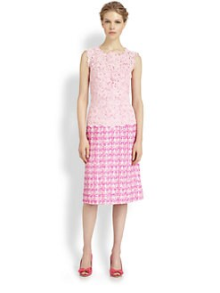 Oscar de la Renta - Lace/Tweed Dress