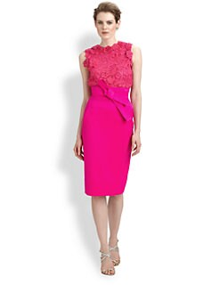 Oscar de la Renta - Floral Lace Top