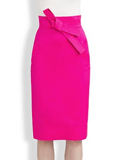 Oscar de la Renta - Tie-Belt Pencil Skirt