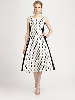 Oscar de la Renta - Beaded Colorblock Dress