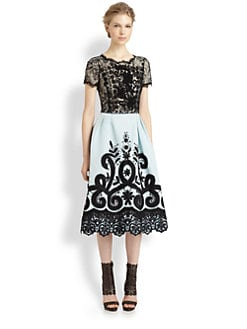 Oscar de la Renta - Mixed Media Dress