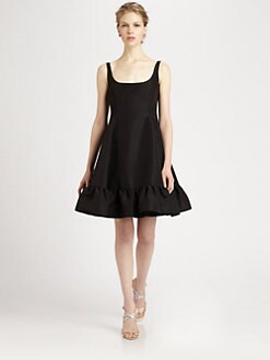 Oscar de la Renta - Silk Faille Bow Dress