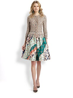 Oscar de la Renta - Metallic-Trimmed Crocheted Jacket
