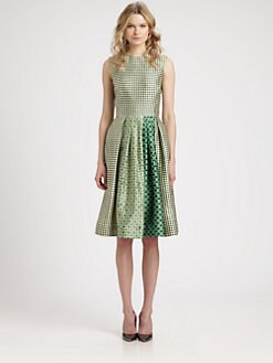 Oscar de la Renta - Silk & Cotton Printed Dress