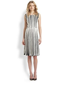 Oscar de la Renta - Silk Zigzag-Print Dress