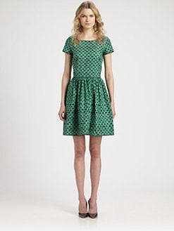 Oscar de la Renta - Printed Stretch Cotton Dress