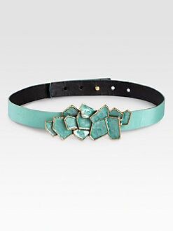 Oscar de la Renta - Abstract Buckle Belt