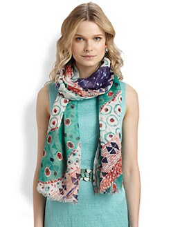 Oscar de la Renta - Printed Modal & Cashmere Scarf