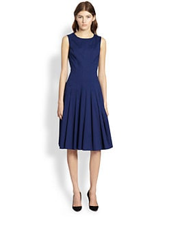 Oscar de la Renta - Pleated Poplin Dress
