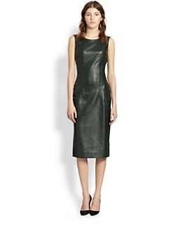 Oscar de la Renta - Slim Leather Dress