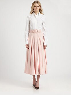 Oscar de la Renta - Stretch Cotton-Blend Shirt