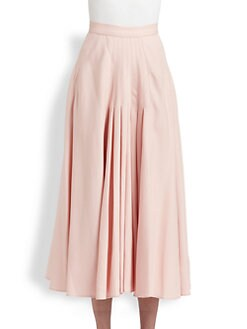 Oscar de la Renta - Pleated Midi Skirt