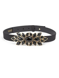 Oscar de la Renta - Jeweled Buckle Belt