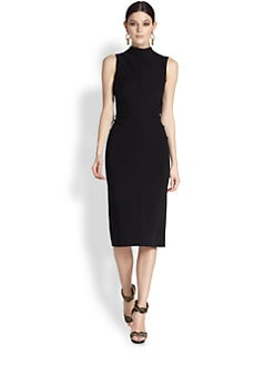 Oscar de la Renta - Bow-Back Wool Jersey Pencil Dress