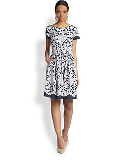 Oscar de la Renta - Lace Print Dress