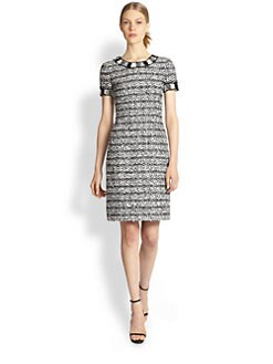 Oscar de la Renta - Jacquard Tweed Pencil Dress