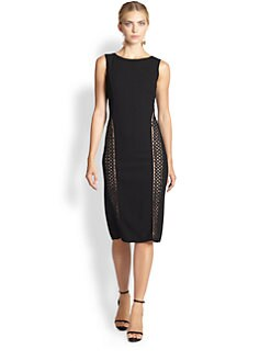 Oscar de la Renta - Soutache-Trimmed Pencil Dress