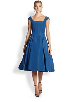 Oscar de la Renta - Silk Faille Bubble-Hem Dress
