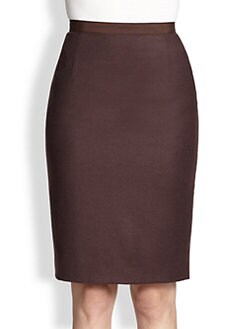 Oscar de la Renta - Wool Pencil Skirt