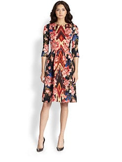 Oscar de la Renta - Floral Day Dress