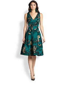 Oscar de la Renta - Toile Print Day Dress