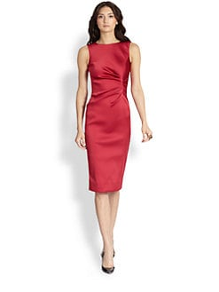 Oscar de la Renta - Ruched Cocktail Dress