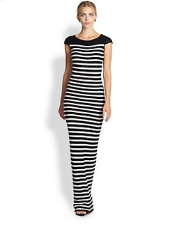 Oscar de la Renta - Sequin Stripe Knit Gown