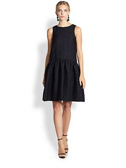 Oscar de la Renta - Drop-Waist Matelasse Dress