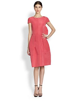 Oscar de la Renta - Silk Bow-Back Dress