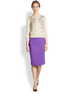 Oscar de la Renta - Beaded Cashmere & Silk Cardigan