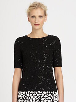 Oscar de la Renta - Sequined Sweater Tee