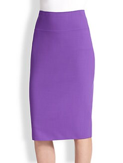 Oscar de la Renta - Stretch Wool Pencil Skirt