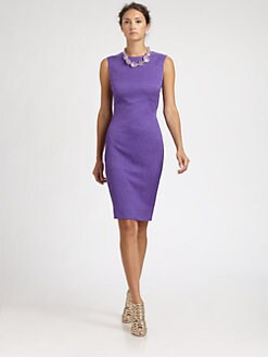Oscar de la Renta - Crimped Cotton/Silk Dress