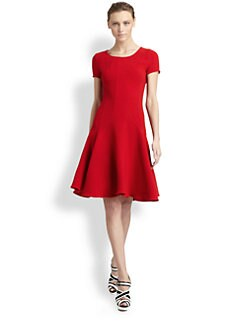 Oscar de la Renta - Wool Crepe Dress