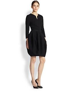 Oscar de la Renta - Wool Bubble-Skirt Dress